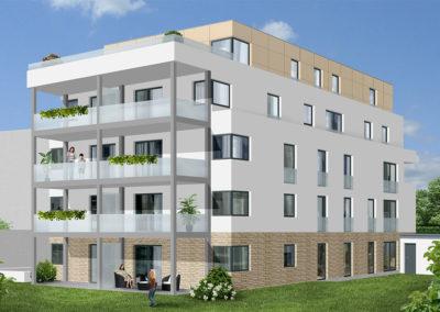 Rückansicht - Stadtdomizil-Mitte Bielefeld